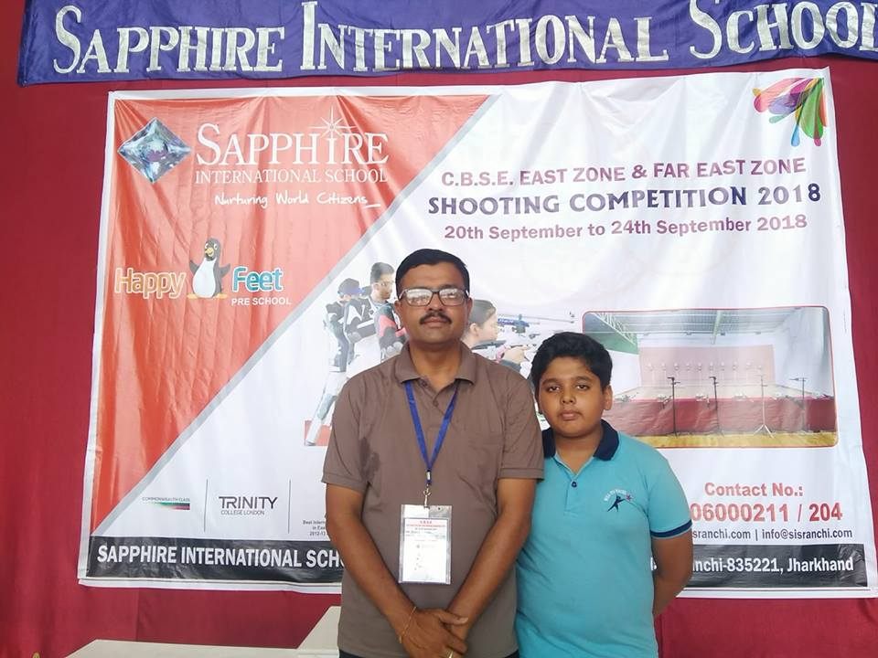Qualified for Air Pistol event in CBSE National level Shooting competition
